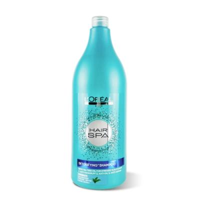 L OREAL萊雅 Hair SPA茶樹清新洗髮精1500ml 附專用壓頭 (台灣公司貨)