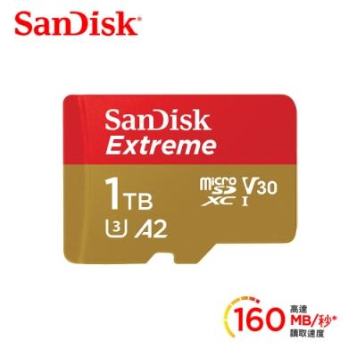 SanDisk Extreme microSDXC UHS-I(V30) 1TB記憶卡