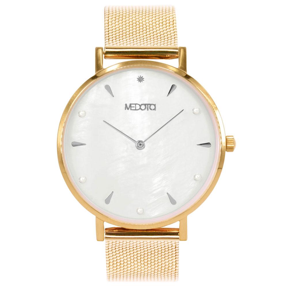 MEDOTA Thetis系列白色貝殼面簡約時尚女錶