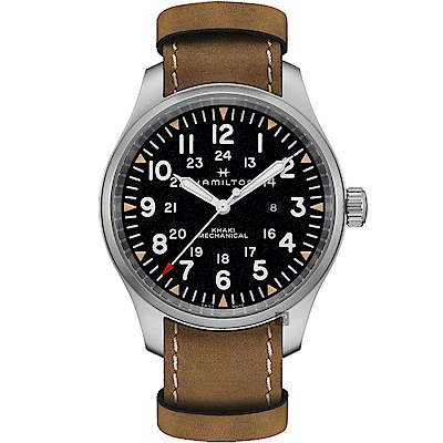 Hamilton 漢米爾頓 KHAKI 卡其野戰機械錶-黑x咖啡/50mm