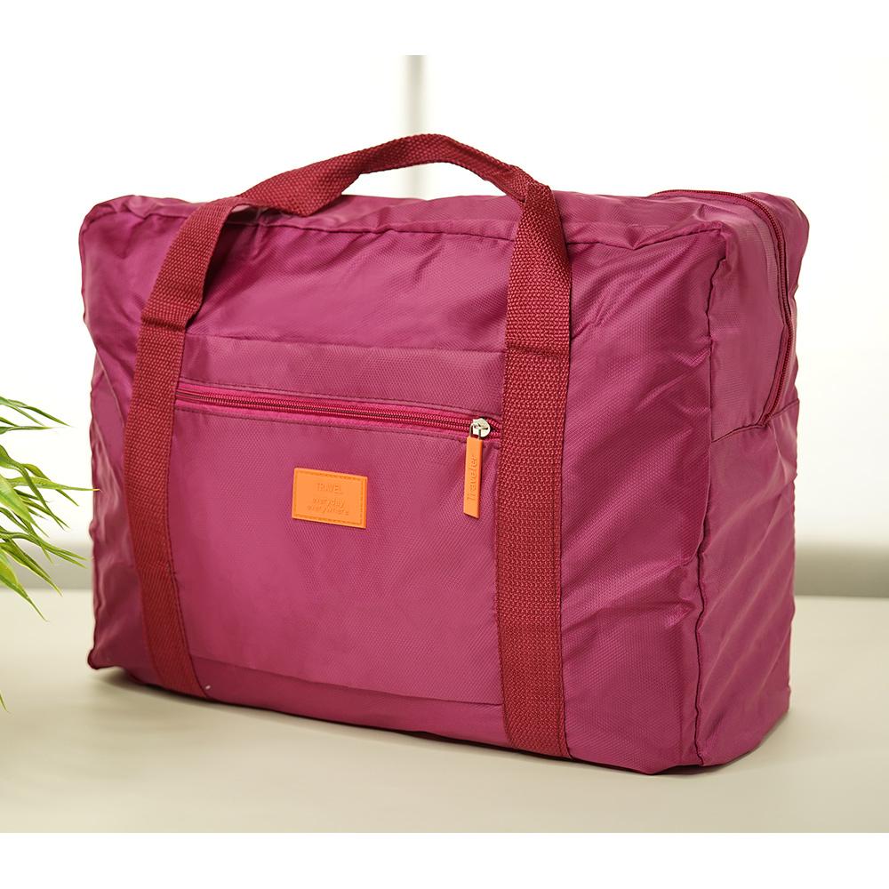 【暢貨出清】JIDA 插桿式兩用摺疊旅行手提袋(隨機出貨)