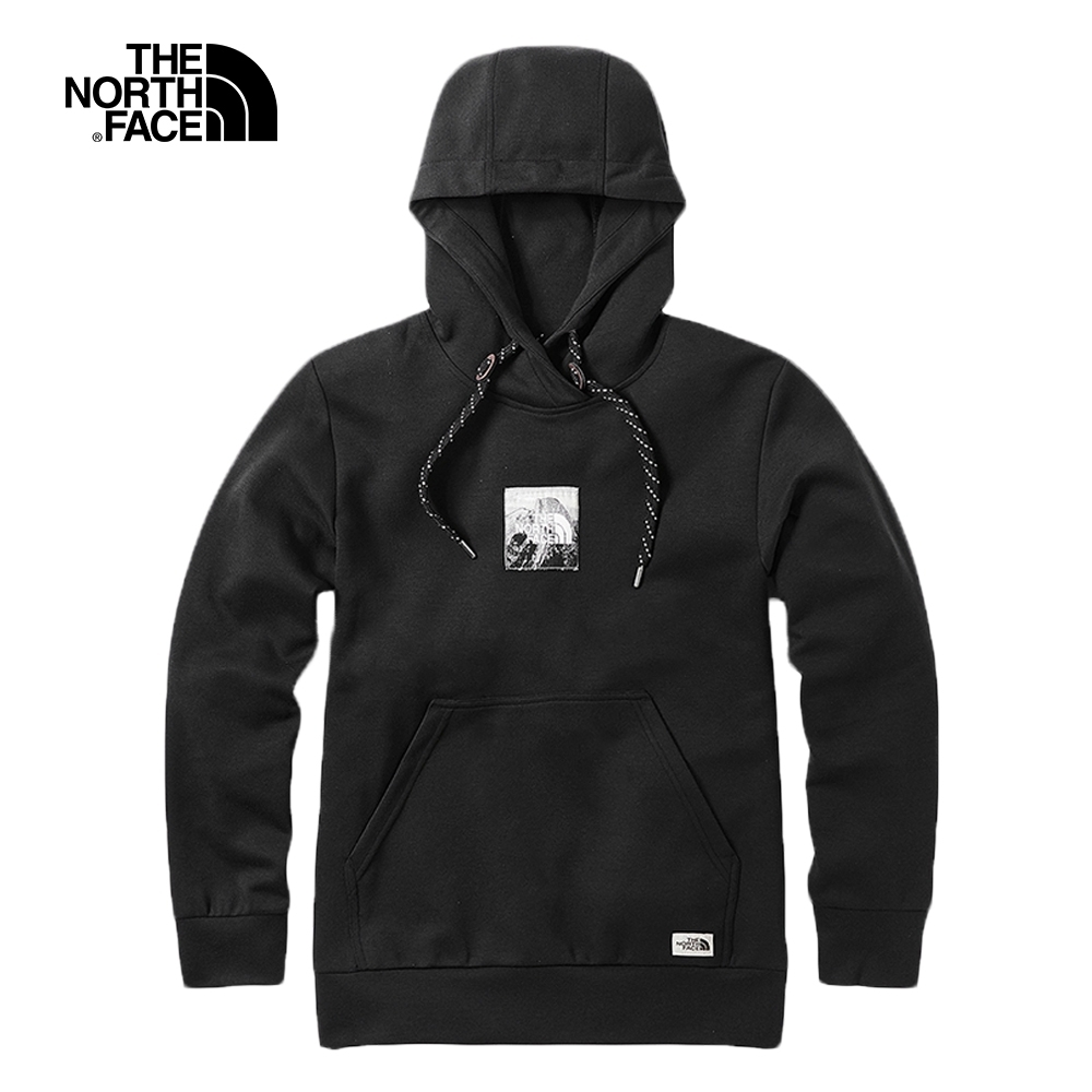 The North Face北面男款黑色柔軟舒適針織上衣|3VTHJK3