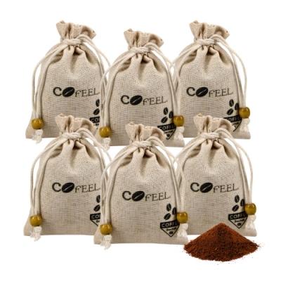 CoFeel 凱飛咖啡豆研磨香包60g/除臭包/除濕包(6包組)