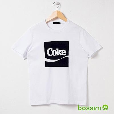 bossini男裝-CocaCola印花T恤01白