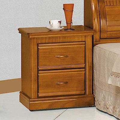 AS-西迪柚木色床頭櫃-54x44x62.5cm