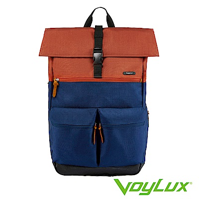 VoyLux伯勒仕-VENTURE系列雙口袋配色後背包橘色-3381558