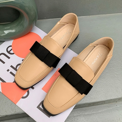 KEITH-WILL時尚鞋館 歐洲站經典時尚英倫樂福鞋-杏