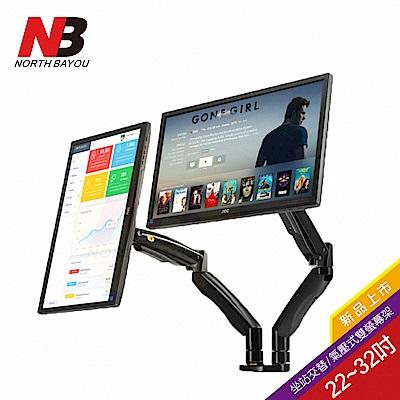 NB  22~32吋桌上型氣壓式雙液晶螢幕架/F195A