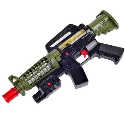 《M16A4》突襲步槍造型語音燈光音效震動功能電動玩具槍