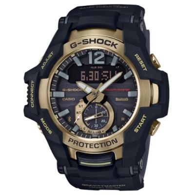 G-SHOCK 飛行員專屬太陽能藍芽錶-帥氣金(GR-B100GB-1A)/53.8mm