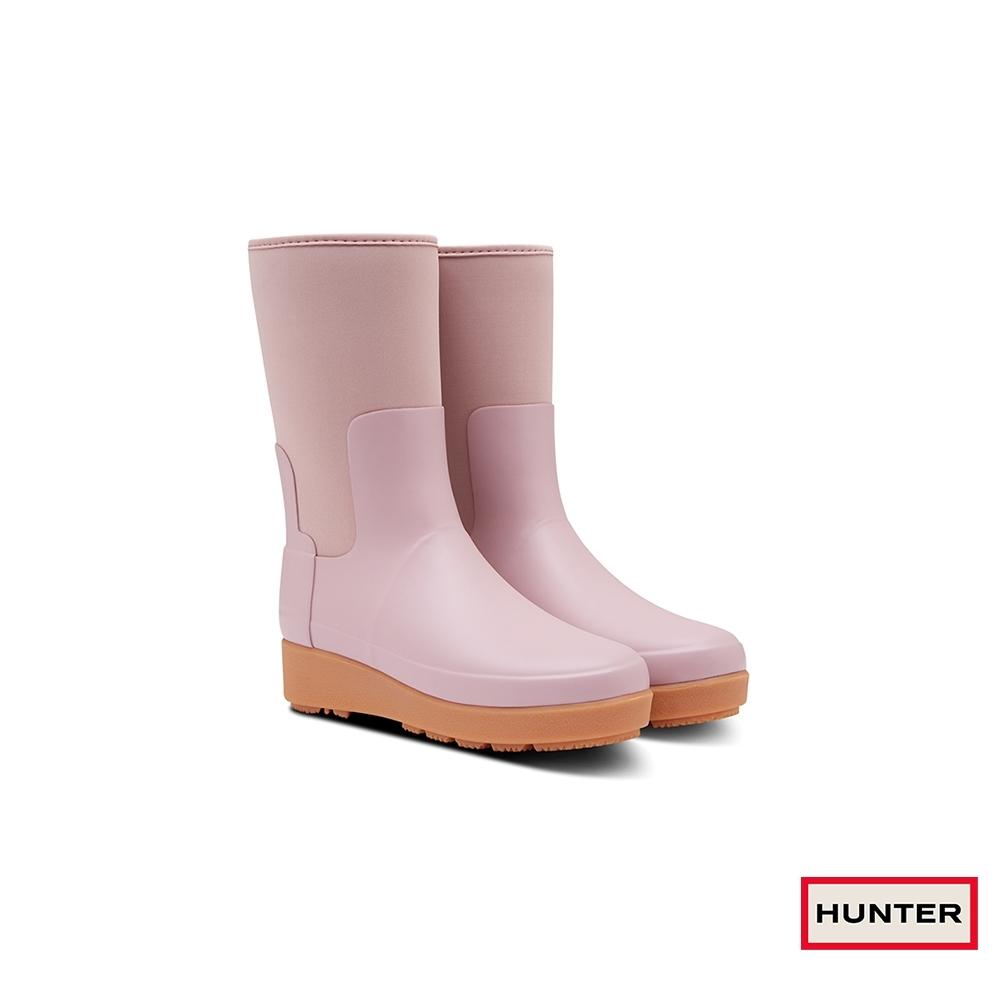 HUNTER - 女鞋-Refined平底短靴 - 粉