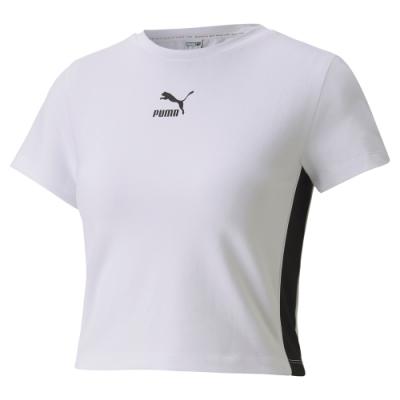 PUMA-女性流行系列Classics短袖T恤-白色-歐規