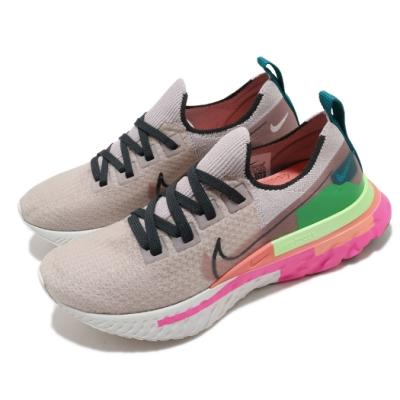 Nike 慢跑鞋 Infinity Run 運動 女鞋 輕量 透氣 舒適 避震 Rract中底 灰 粉 CU0430500