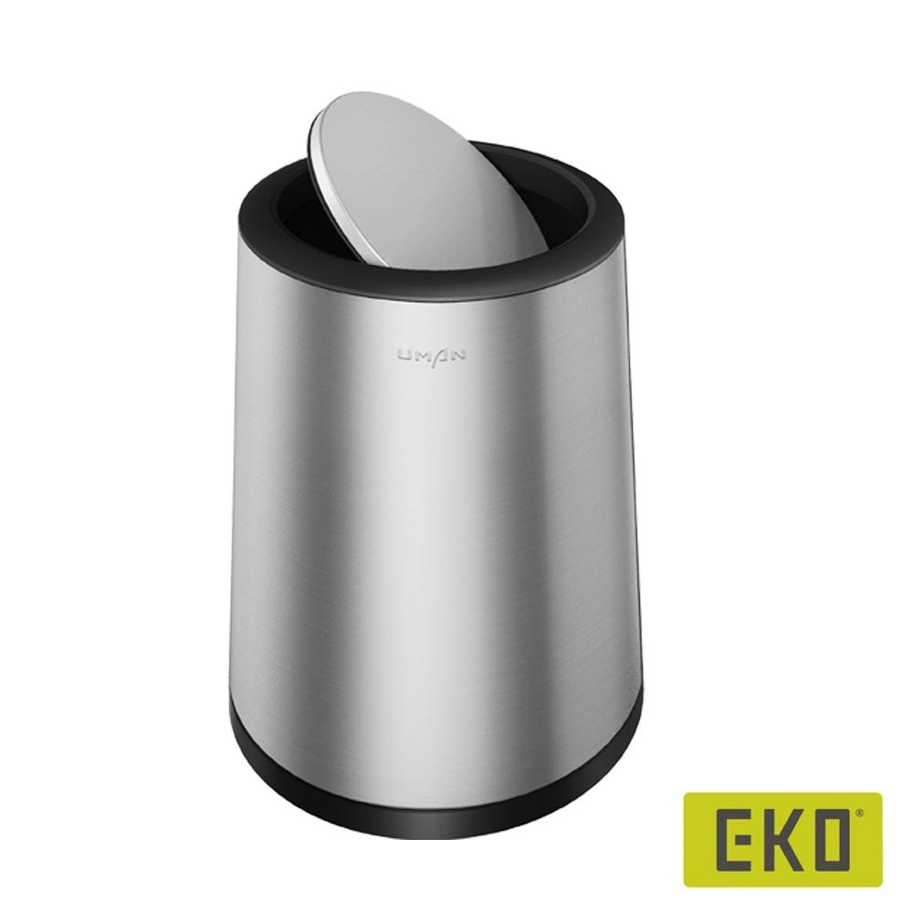EKO圓形搖蓋垃圾桶-6L