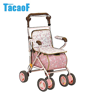 日本TacaoF幸和 標準款助步車SIST01型 -花漾粉