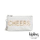 Kipling CHEERS亮銀白三夾層配件包-CREATIVITY L