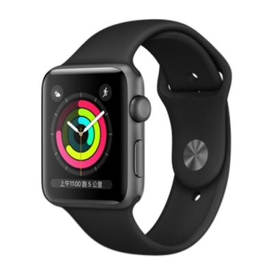 Apple Watch Series 3(GPS)42mm太空色鋁金屬錶殼+黑色運動錶帶