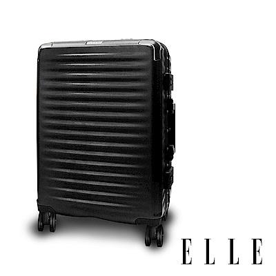ELLE Louvre-羅浮宮系列-24吋輕量PC材質行李箱-西奧多黑  EL31258