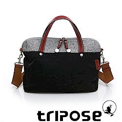 tripose 漫遊系列岩紋玩色兩用手提背包 黑