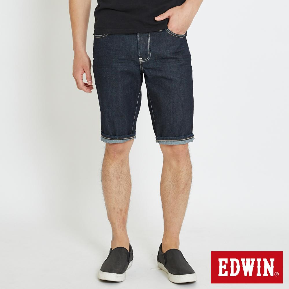 EDWIN 503休閒基本五袋短色褲-男-原藍色