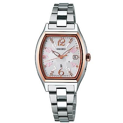 SEIKO精工LUKIA粉櫻太陽能電波腕錶(1B22-0BT0KS/SSQW020J)