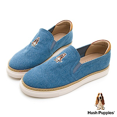 Hush Puppies Puppy 單寧直套便鞋-淺藍