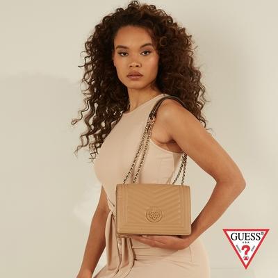 GUESS-女包-時尚氣質小香風肩背包-棕 原價3090