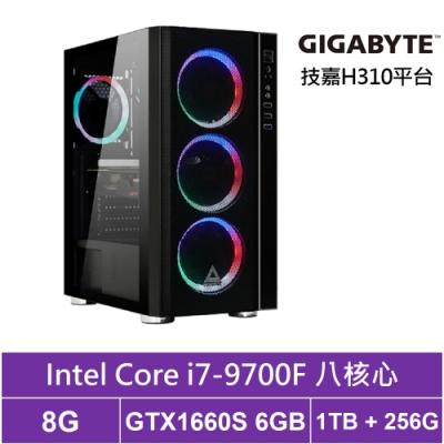 技嘉H310平台[獵妖風神]i7八核GTX1660S獨顯電玩機
