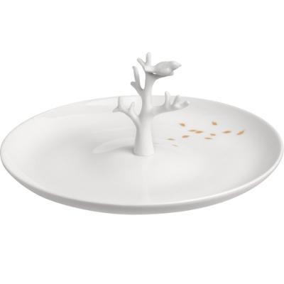 《RADER》手工白瓷印花飾品盤(秋意20.5cm)