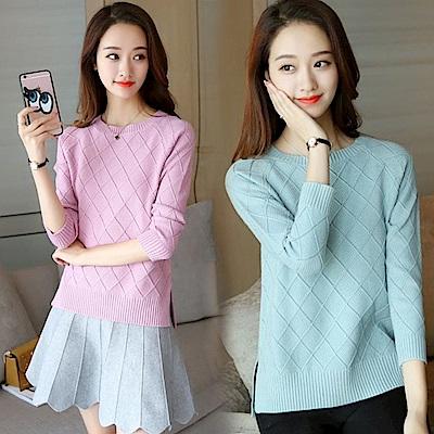 純色針織毛衣-共6色(F可選)   NUMI 森