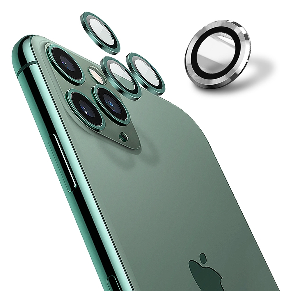 【Ayss】康寧鏡頭保護貼 iPhone 12 Pro/9H硬度/金屬邊框/鏡頭全包覆式/AR光學玻璃/疏水疏油-3入-銀