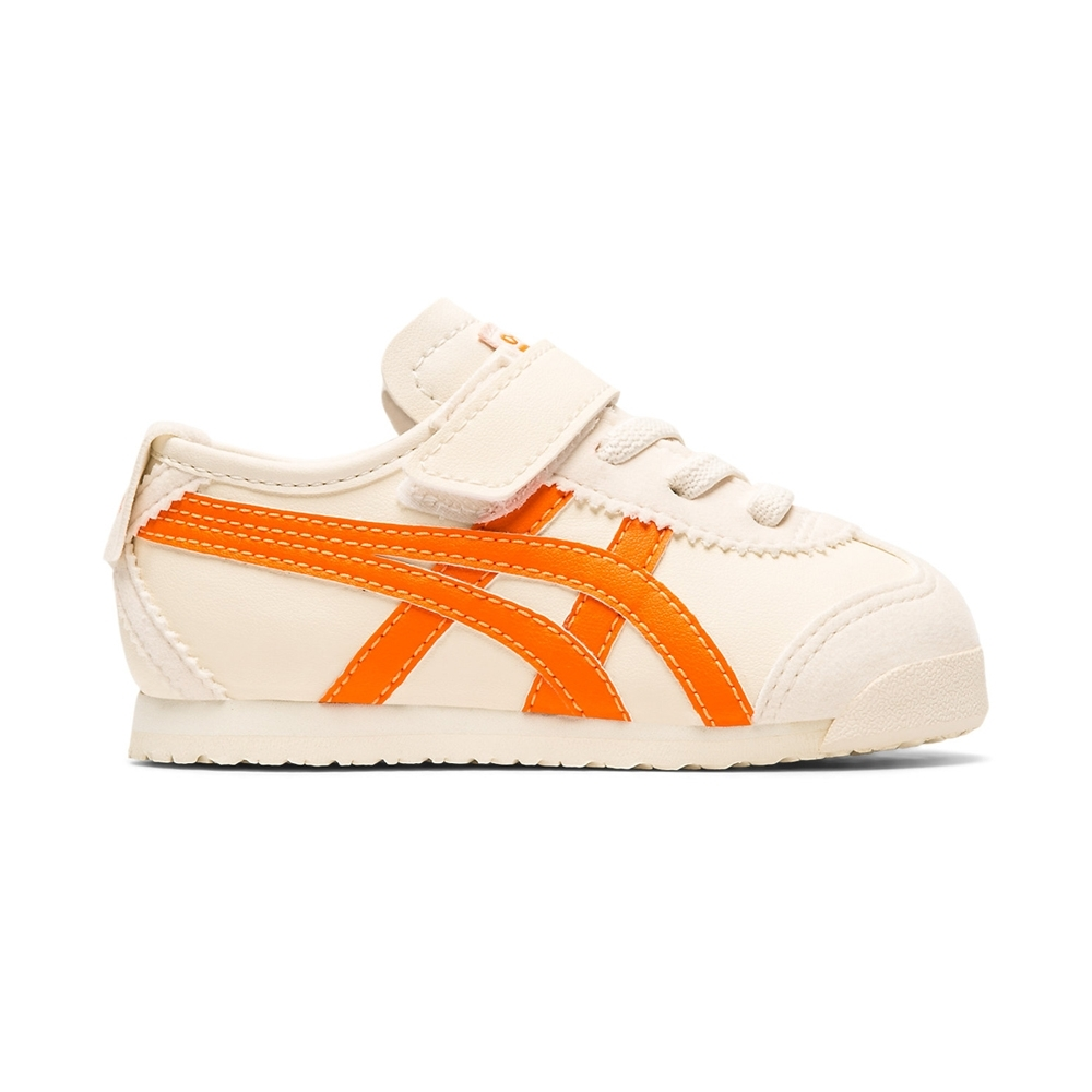 OT鬼塚虎-MEXICO 66 TS 休閒童鞋 (米色底橘邊)