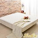 (618限定)LooCa法國防蹣防蚊技術2.5cm冬夏兩用HT乳膠床墊-加大6尺