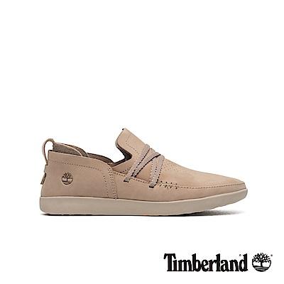 Timberland 女款灰褐色磨砂革舒適透氣休閒鞋|A1YCK