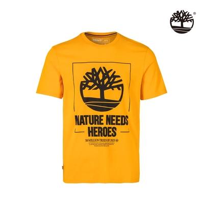 Timberland 男款起司色Nature Needs Heroes有機棉短袖T恤|A43Y2804