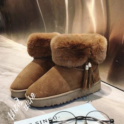 KEITH-WILL時尚鞋館-韓式名媛英倫風雪靴-棕色