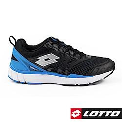 LOTTO 義大利 男 極速SP300輕量跑鞋 (黑/藍)