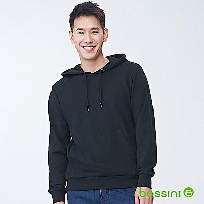 bossini男裝-連帽厚棉T恤01黑