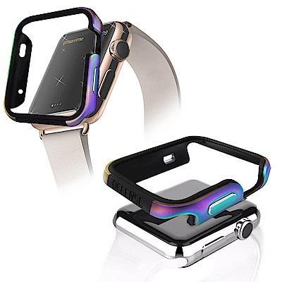 Apple Watch 38mm 鋁合金雙料保護殼 保護邊框(霓光銀河)