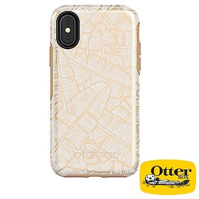 OtterBox iPhoneX炫彩幾何圖騰系列保護殼-金色脈絡