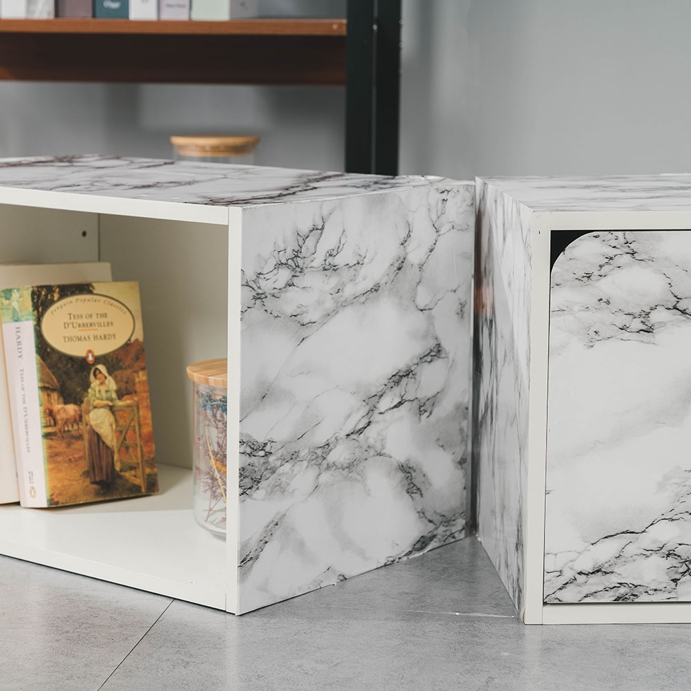 (2入)樂嫚妮 DIY裝修加厚防水大理石紋壁貼60X300cm-大理石白