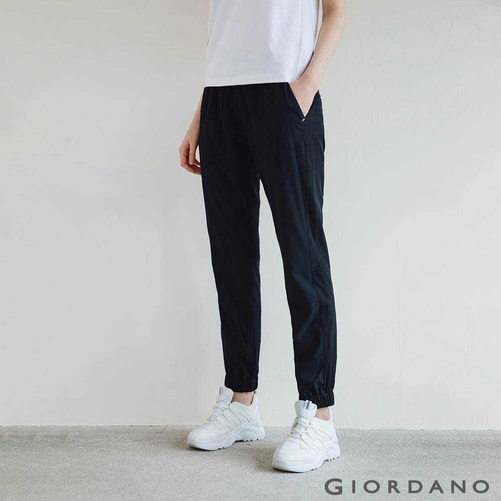 GIORDANO 女裝3M機能修身束口褲 - 09 標誌黑