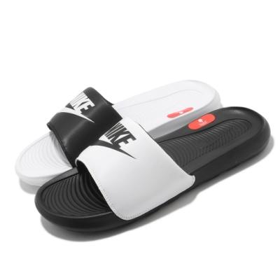 Nike 拖鞋 Victori One Slide 男女鞋 基本款 輕便 簡約 套腳 情侶穿搭 黑 白 DD0234100
