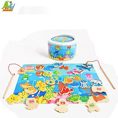 Playful Toys 頑玩具 木製釣魚拼圖