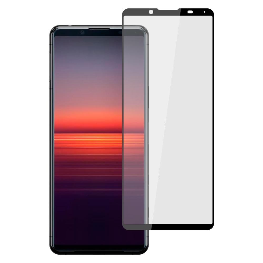 【Ayss】SONY Xperia 5 II/6.1吋/2020/平面滿版全膠/玻璃鋼化保護貼膜/四邊弧邊-黑