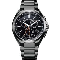 CITIZEN 星辰 鈦金屬光動能電波時尚腕錶 (CB5045-60E)41mm