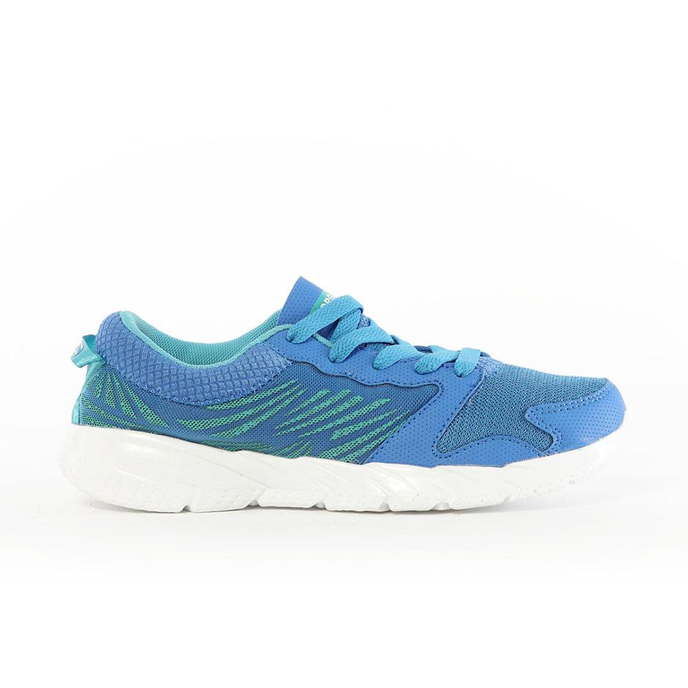 【TOP GIRL】飛線網布透氣慢跑運動鞋-藍
