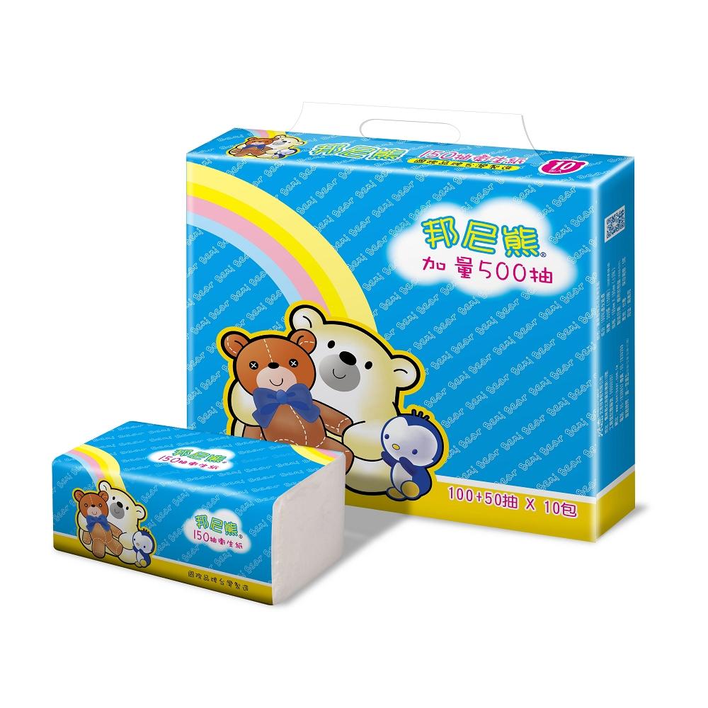 Benibear邦尼熊抽取式花紋衛生紙150抽60包/箱
