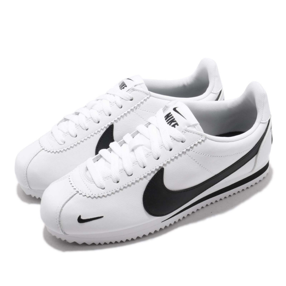 Nike 阿甘鞋 Classic Cortez 休閒 經典 情侶鞋 穿搭 皮革 球鞋 白 黑 男女鞋