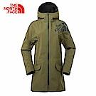 TheNorthFace北面女款綠色透氣戶外防水防風衝鋒衣 | 3GJEZBK